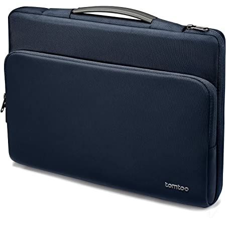 tomtoc Recycled Laptop Carrying Case for 13-inch MacBook Air M1/A2337 2018-2021, MacBook Pro M1/A2337 2016-2021, 12.3 Surface Pro X/7/6/5/4, 12.9 iPad Pro, Dell XPS 13, Water-Resistant Accessory Bag