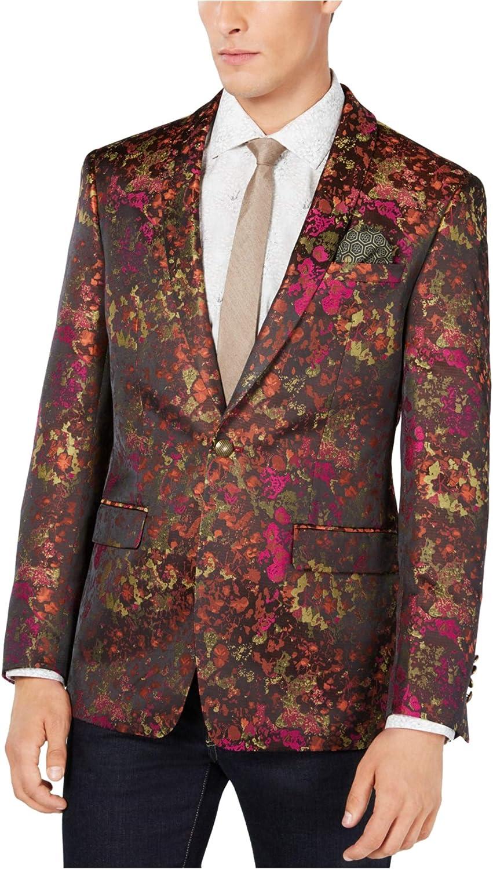 Tallia Mens Abstract One Button Blazer Jacket