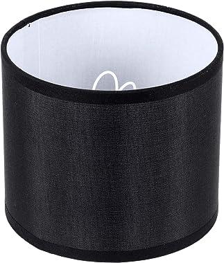 Uonlytech Black Linen Lamp Shade Drum Lampshade for Chandeliers Floor Light Table Lamp Fabric Linen Burlap Lamp Shell Cover 1