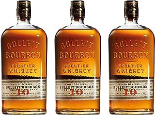 Bulleit Bourbon Frontier Whiskey Aged 10 Years /Jahre, 3er, Whisky, Alkohol, Alkoholgetränk, Flasche, 45.6%, 700 ml, 729937