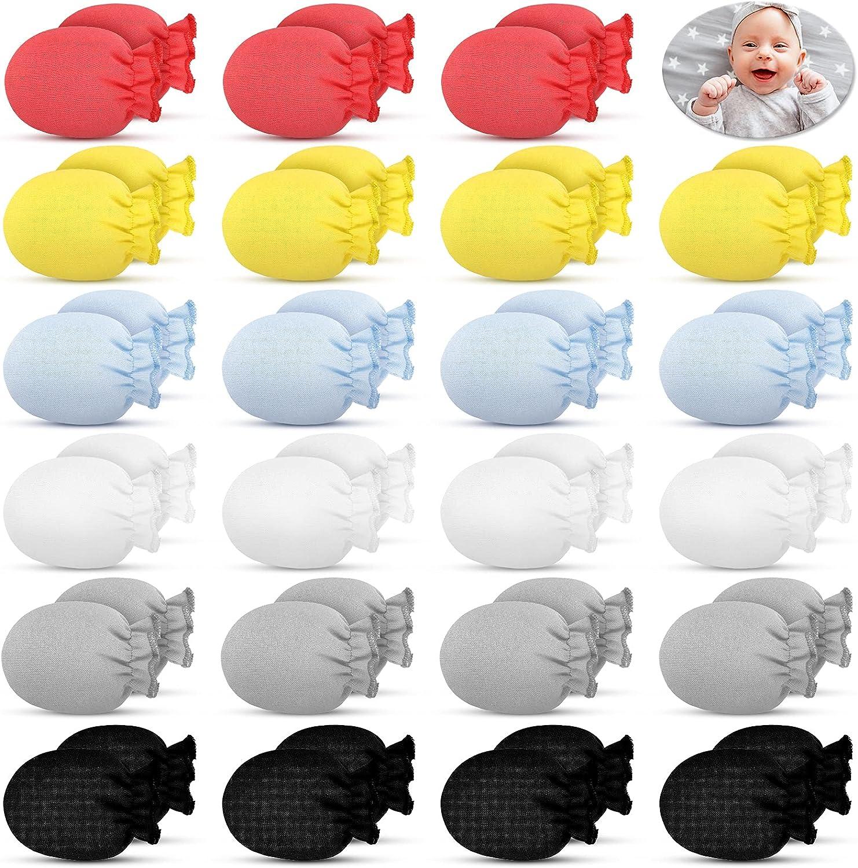 discount 24 Pairs Newborn Baby Gloves No Unisex Scratch I Mittens Luxury Organic