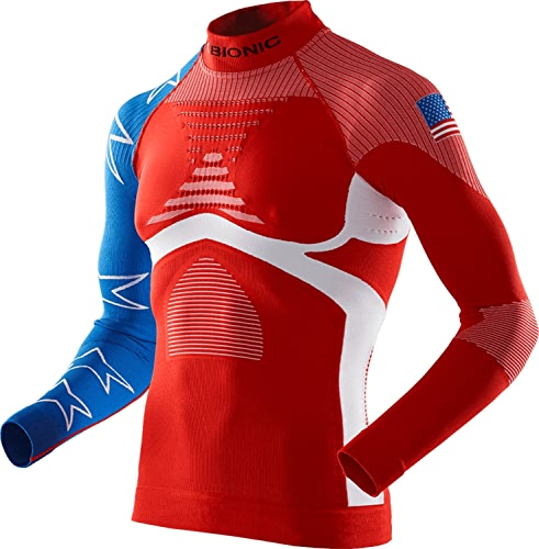 X-Bionic T-Shirt de Ski on Patriot ACC Evo UW LG LS T-Shirt. T-Shirt à Manches Courtes et col roulé
