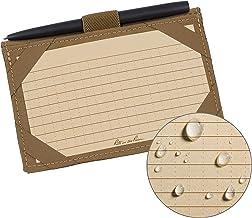 "product image for Rite In The Rain Weatherproof Index Card Kit: Tan CORDURA Fabric Cover, 100 Tan 3"" x 5"" Index Cards, and an Weatherproof Pen (No. 991T-KIT), 5.75 x 4 x 0.5"
