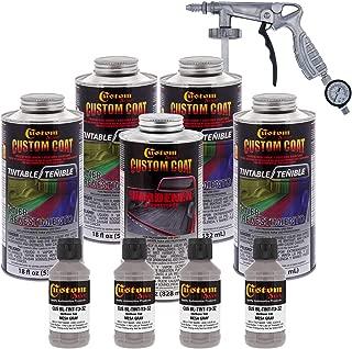 Custom Coat MESA Gray 0.875 Gallons Urethane Spray-On Truck Bed Liner Kit with (Free) Custom Coat Spray Gun with Regulator