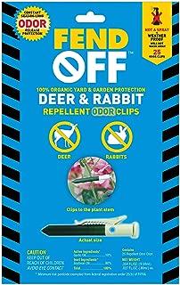 Fend Off Deer/Rabbit Organic Odor Clips, 25pk