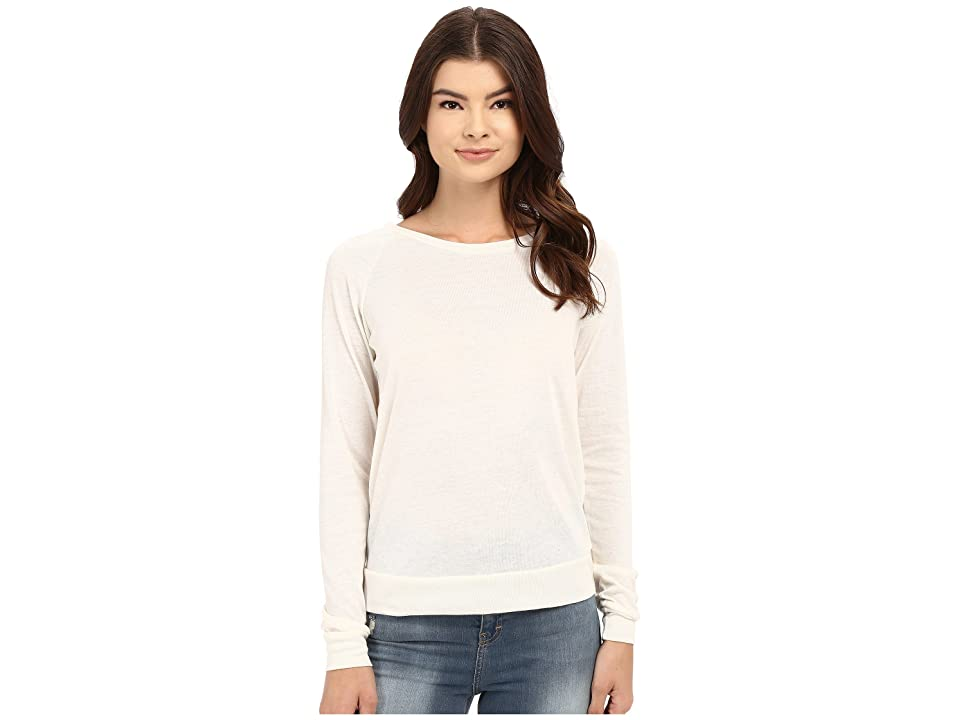 Alternative Eco-Heather Slouchy Pullover (Eco Ivory) Women