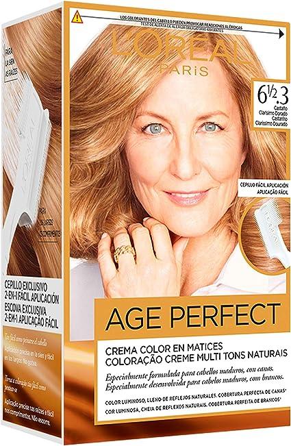 LOréal Paris Age Perfect Coloración permanente, Tono: 61/2.3 ...