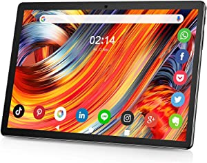 Tablet 10 Inch IPS HD Display Touchscreen, Android 9.0 GMS Phone Tablet Support 2G/3G Sim Cards, Quad-Core, 2GB Ram 32GB ROM, Long Lasting Battery, 5MP Rear Camera, WiFi, Bluetooth, GPS-Black