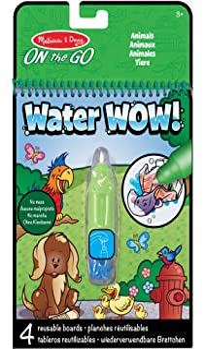 Melissa & Doug On the Go Water Wow djur, flerfärgad, fristående