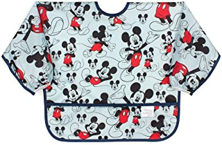 Bumkins Disney Mickey Mouse Bib Sleeved Bib / Baby Bib / Toddler Bib / Smock، ضد آب ، قابل شستشو ، لکه و مقاومت در برابر بو ، 6-24 ماه - کلاسیک