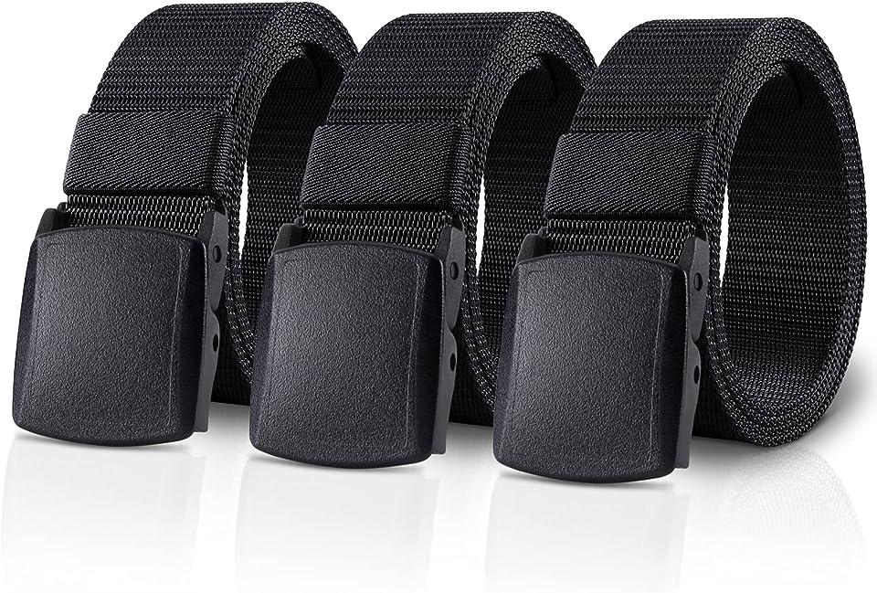 Gürtel Unisex Stoffgürtel Taktischer Gürtel, 3,8cm Breite Nylon Arbeitsgürtel für Damen & Herren Verstellbarer Belts mit Automatischer Gürtelschnallen