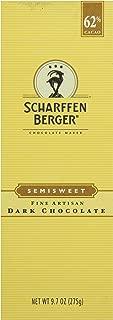 SCHARFEEN BERGER Artisan Dark Chocolate Bars, Semisweet, 9.7 Ounce