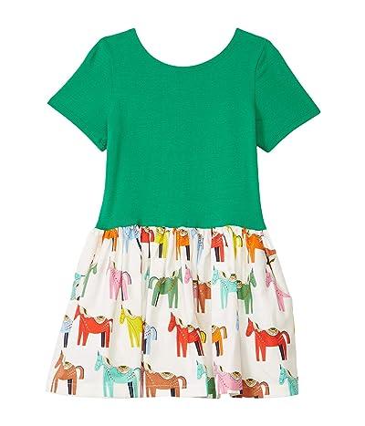 fiveloaves twofish Phoebe Dress (Toddler/Little Kids) (Green Cabrillo Horses) Girl