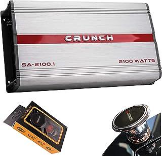 $82 » Crunch SA-2100.1 Smash Series 2,100-Watt Monoblock Class AB Amp Car Audio Sound System Subwoofer Speaker Amp Amplifier wit...