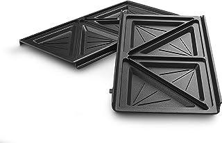 De'Longhi Set de plaques à sandwich DLSK154 – Accessoires de cuisine pour De'Longhi MultigGrill SW12, grille de cuisson av...