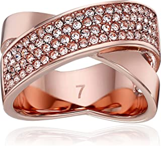 Tone Pave Criss Cross Ring