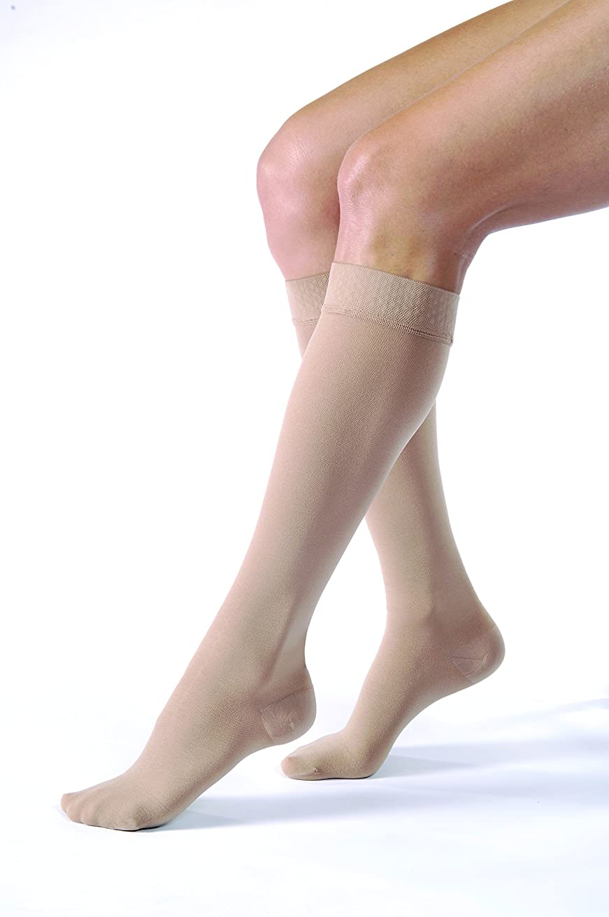 時々時々極めて食事を調理するRelief 20-30 mmHg Unisex Closed Toe Knee High Support Sock with Silicone Top Band Size: Large by Jobst