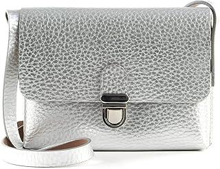 Vanzetti Glitter Radiance Horizontal Crossbody Bag Silver Metallic