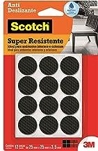 Protetor Antideslizante 3M Scotch Redondo Preto Médio - 12 unidades