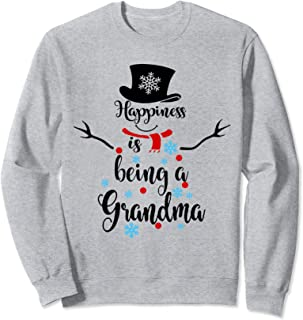 Happiness Is Being A Grandma Snowman Sweatshirt