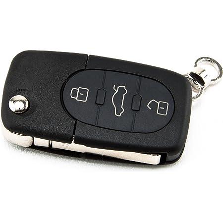 Inion 1x 3 Tasten Klappschlüssel Mit Rohling Batteriefach FÜr Cr20 Cr2032 Schlüsselgehäuse Umbau Klappschlüssel Autoschlüssel Schlüssel Fernbedienung Funkschlüssel Gehäuse Audiks07 Auto