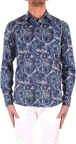 Etro Homme 129084039200 Bleu Coton Chemise