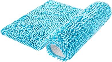 EFORPAD Chenille Bathroom Rugs,Soft and Absorbent Bathroom Mat Rug Non-Slip Carpet Machine Wash and Dry for Shower Room,Bl...