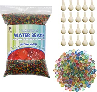 TOAOB Non Toxic Water Beads Kit Include 50000 Small Water Beads 100 Large Water Beads 20 Balloons Mixed Jelly Water Gel Balls for Vases Plant Home Decor