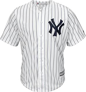 Majestic MLB New York NY Yankees Cool Base - Camiseta de béisbol, color blanco