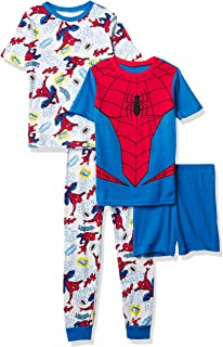 Marvel Boys' Spiderman Snug Fit Cotton Pajamas