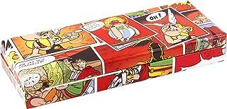 Clairefontaine 812887C piórnik, duży, 21 x 5,5 x 8 cm, motyw komiksów, czerwony