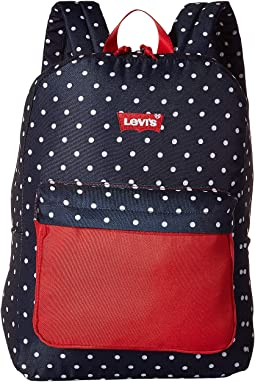 Navy Dot Print/Levi's Red