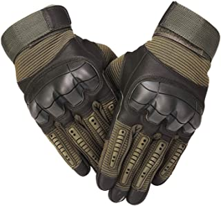 SHAWINGO Touch Screen Tactical Army Military Rubber Hard Knuckle Gloves for Motorcycle Cycling Hunting Airsoft Paintball Shooting