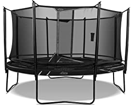SkyBound Explorer 14 Foot Round Trampoline with Safety Enclosure Net System for Kids, High Weight Limit, Outdoor, UV Protected and Weather Resistant