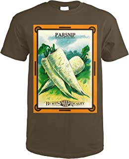 Parsnip (hollow crown) Seed Packet 1493 (Dark Chocolate T-Shirt XX-Large)