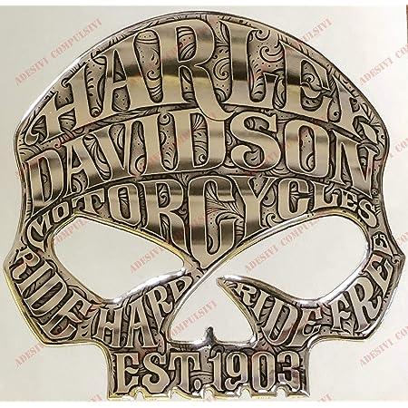 Logo Aufkleber Mit Willie G Totenkopf Harzbeschichtet 3d Effekt Für Tankdeckel Oder Helm Farbe Silber Auto