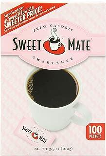 SWEETMATE Sweetener, Pink, Sugar Substitute, Zero Calorie Sugar Substitute Sweetener Packets, 100Count (Pack of 12)