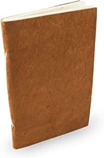 Nepali Companion Pocket Notebook with Handmade Paper and Vegetable-Dyed Cover. Made in Nepal (Small Terra Cotta)