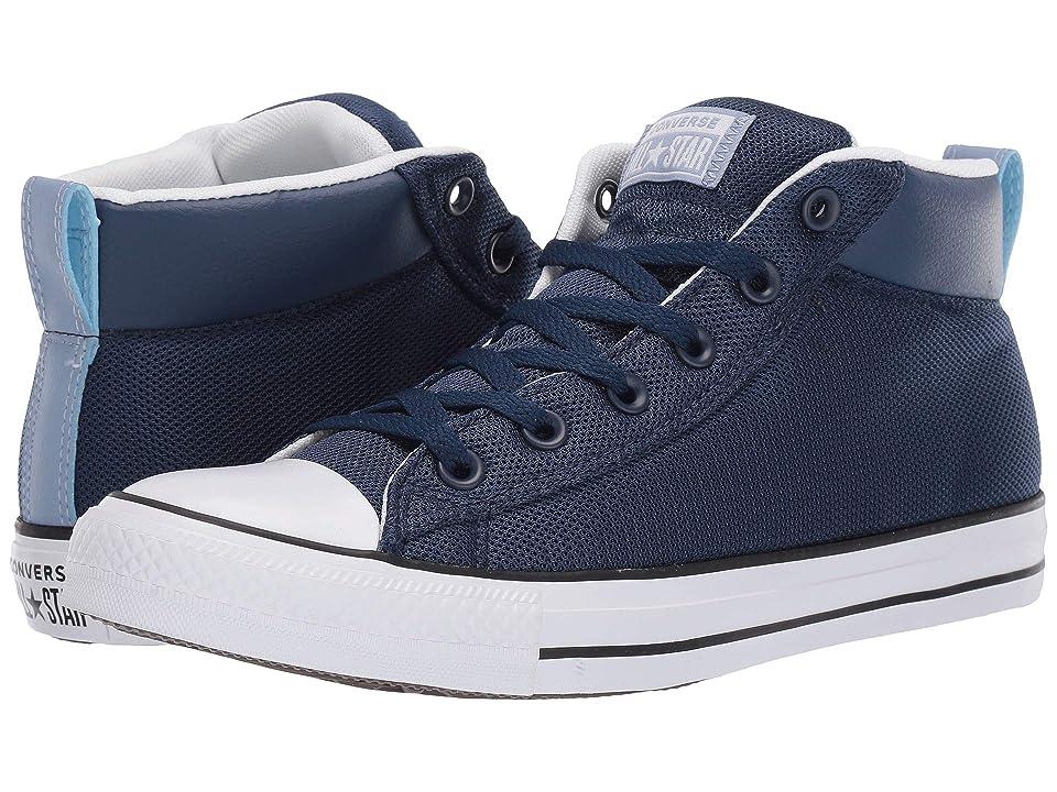 Converse Chuck Taylor(r) All Star(r) Street Uniform Mid (Navy/White/Indigo Fog) Athletic Shoes