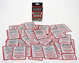 Real or Fake News Card Game, Party Games. Separate Fact from Phony and Spot the Real Headline Card Game, Fake News Game, Funny Card Games For Adults, Challenge Political Games To Play at Parties