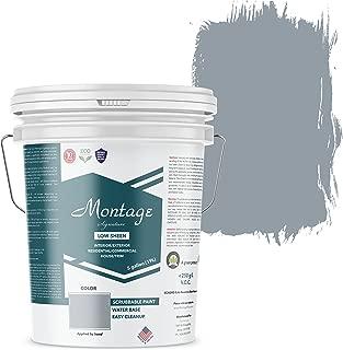 Montage Signature Interior/Exterior Eco-Friendly Paint, Blue Bayou - Low Sheen, 5 Gallon