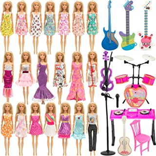 SOTOGO 30 Pieces Doll Clothes and Accessories for 11.5 Inch Girl Doll Include 15 Pieces Handmade Doll Grown Outfits Fashio...