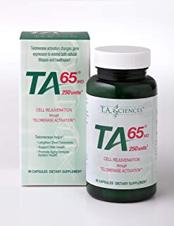 T.A. Sciences TA-65 cell rejuvenation through Telomerase Activation 90 Capsules