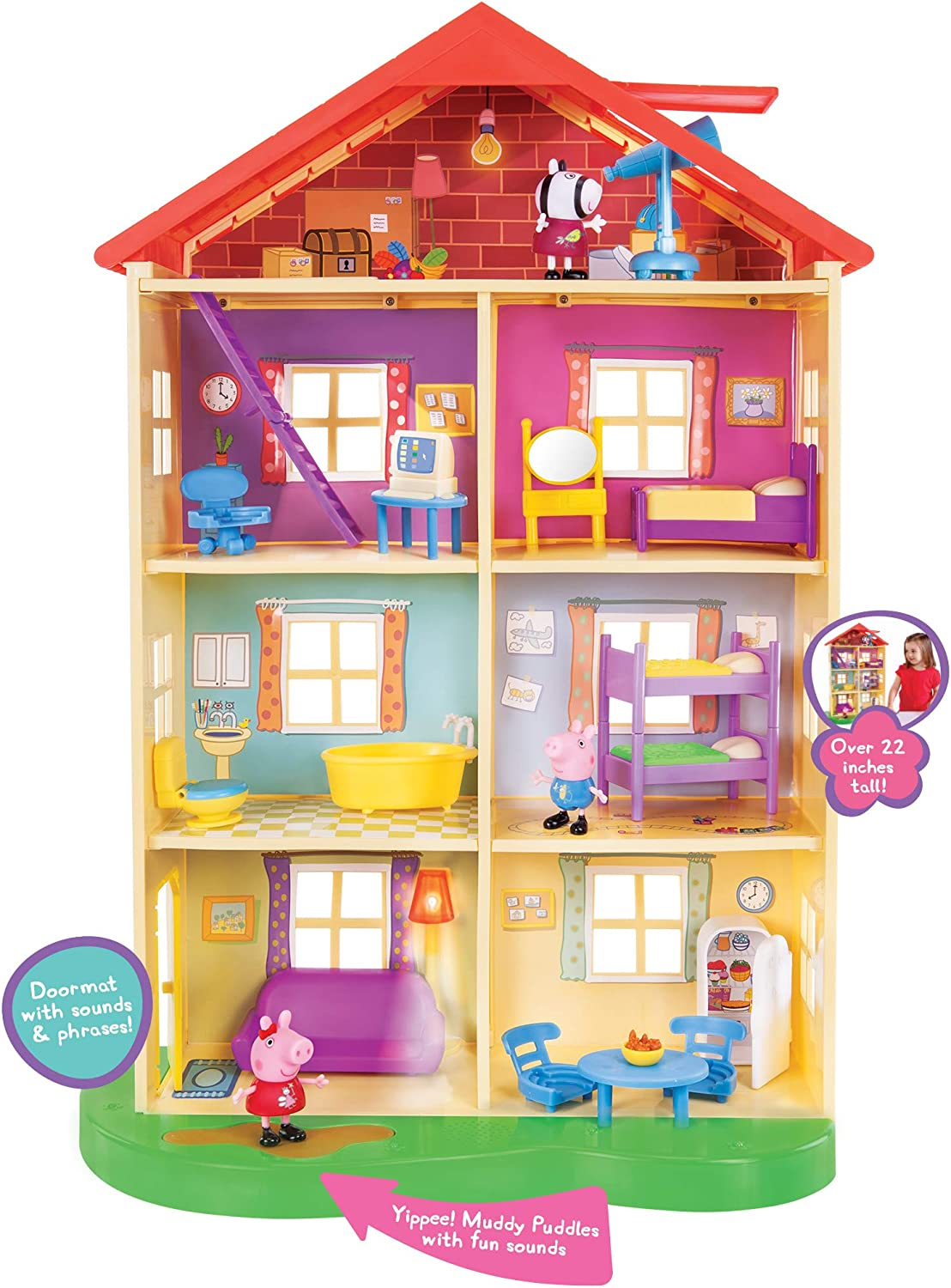 Peppa Pig's Lights Sounds Playset Family Home Selling and selling Max 79% OFF Feature