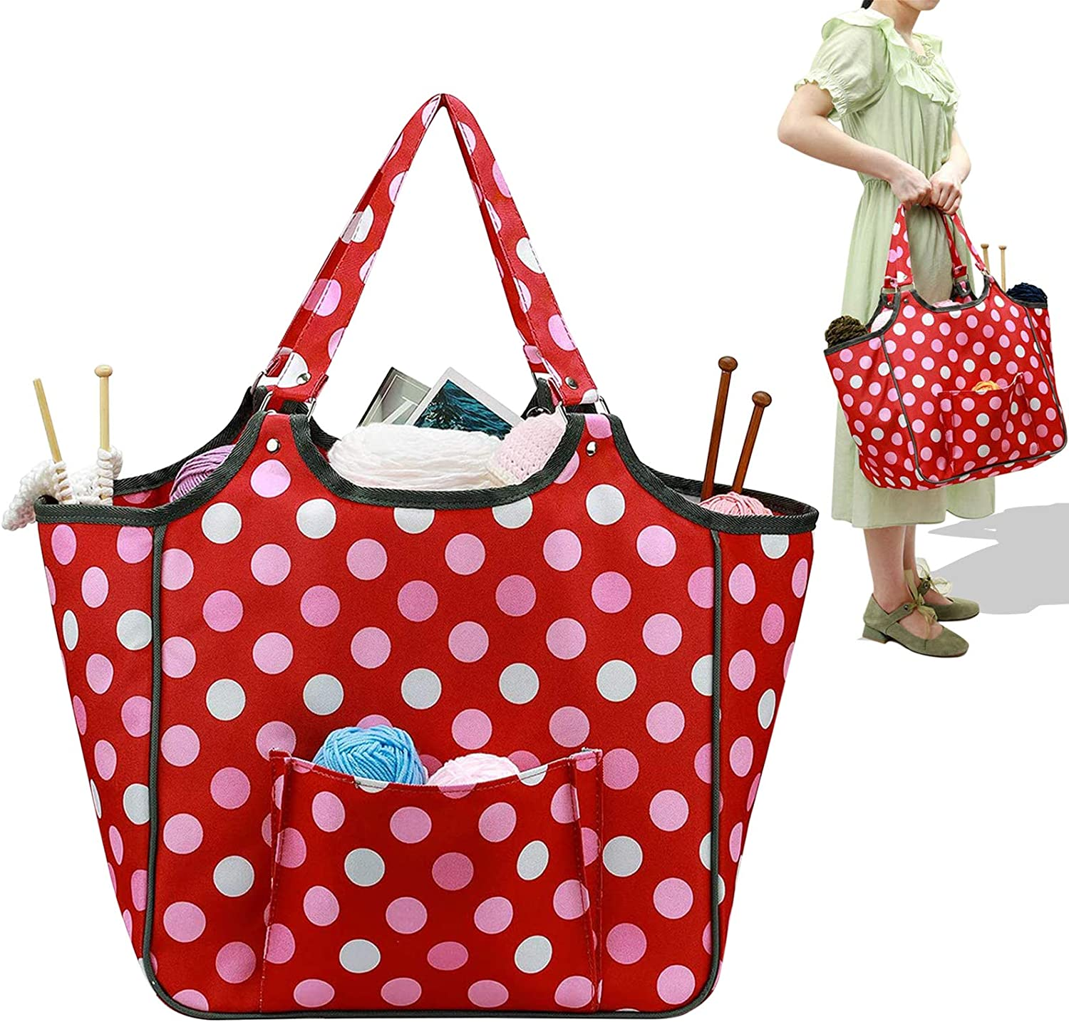 Coopay Yarn Storage Tote Knitting Large Organ Daily bargain sale Capacity Special price Bag
