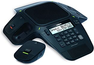 VTech VCS704A Eris Station Conference Phone with 4 Wireless Microphones, Black