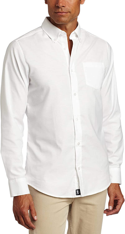 Lee Uniforms Men's Long Sleeve Oxford Shirt