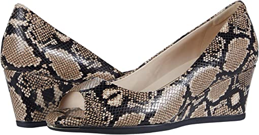 Amphora Exotic Snake Print Leather/Black