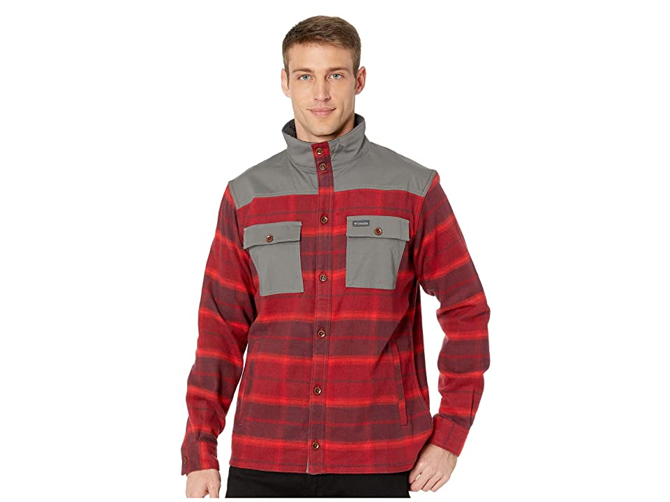 Columbia Deschutes Rivertm Shirt Jacket (Red Element Large Plaid) Men