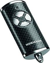 Hörmann Handzender HSE 4 BS (frequentie 868 MHz, hoogglans carbon, garagedeuraandrijving met chromen doppen, batterijen, a...
